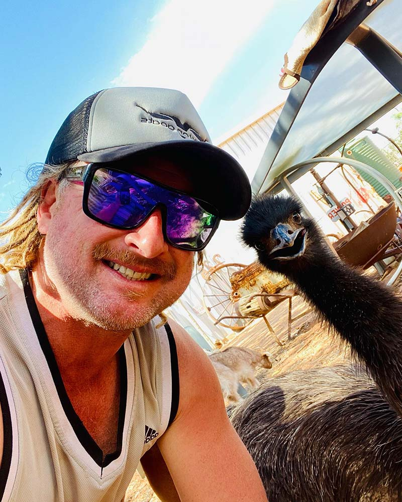 Duncan and Toto the emu